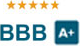 """A+"" Rating with the Better Business Bureau"