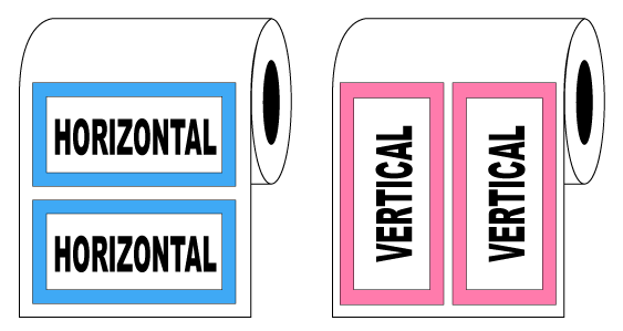 Horizontal and Vertical Label Printing Orientation