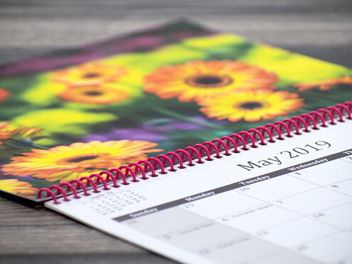 Spiral Bound Calendars Open Thumbnail