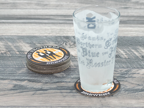 Drink Coaster in Use