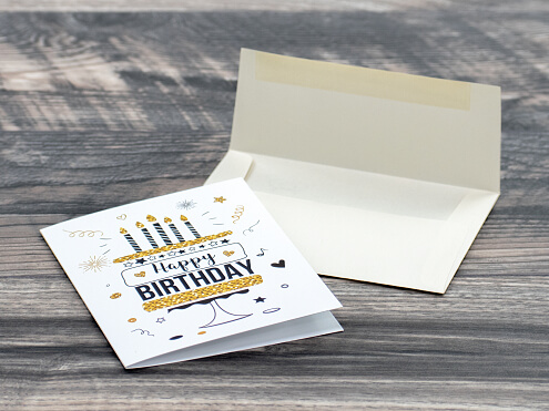 Greeting Card and Blank Envelope