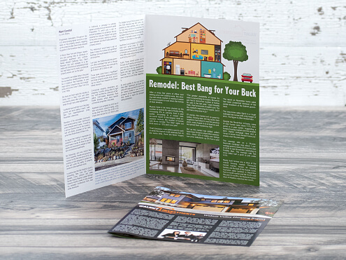 4 page folded newsletters mailing
