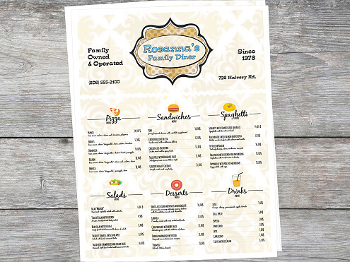 Menu Printing for Restaurants