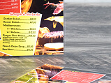 Dine In Menu - Laminated - Close Up Thumbnail