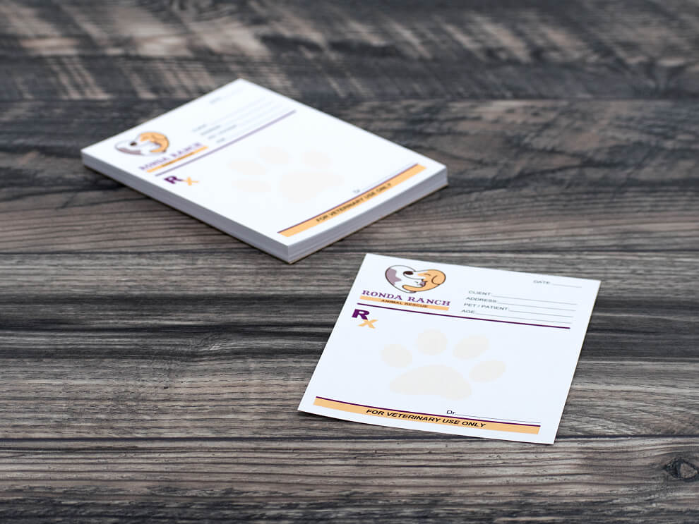Prescription Pad Printing | Order Custom Prescription Notepads Online