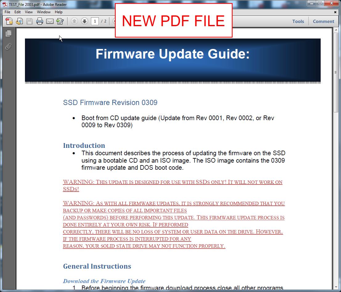 pdf reador will not open