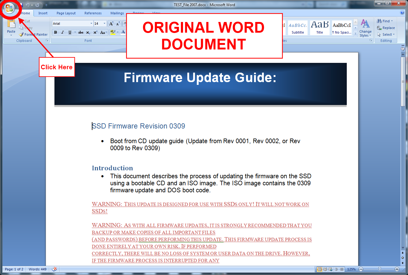 Convert Microsoft Word 2007 To PDF