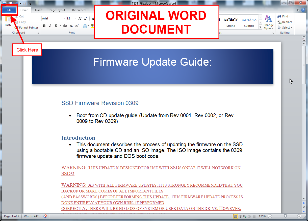 Convert Microsoft Word 2010 To PDF